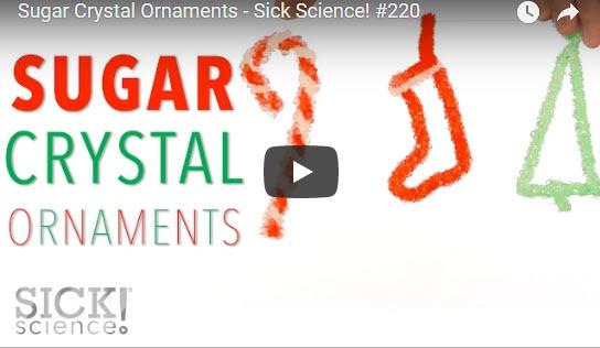 Sugar Crystal Ornaments – Sick Science! #220